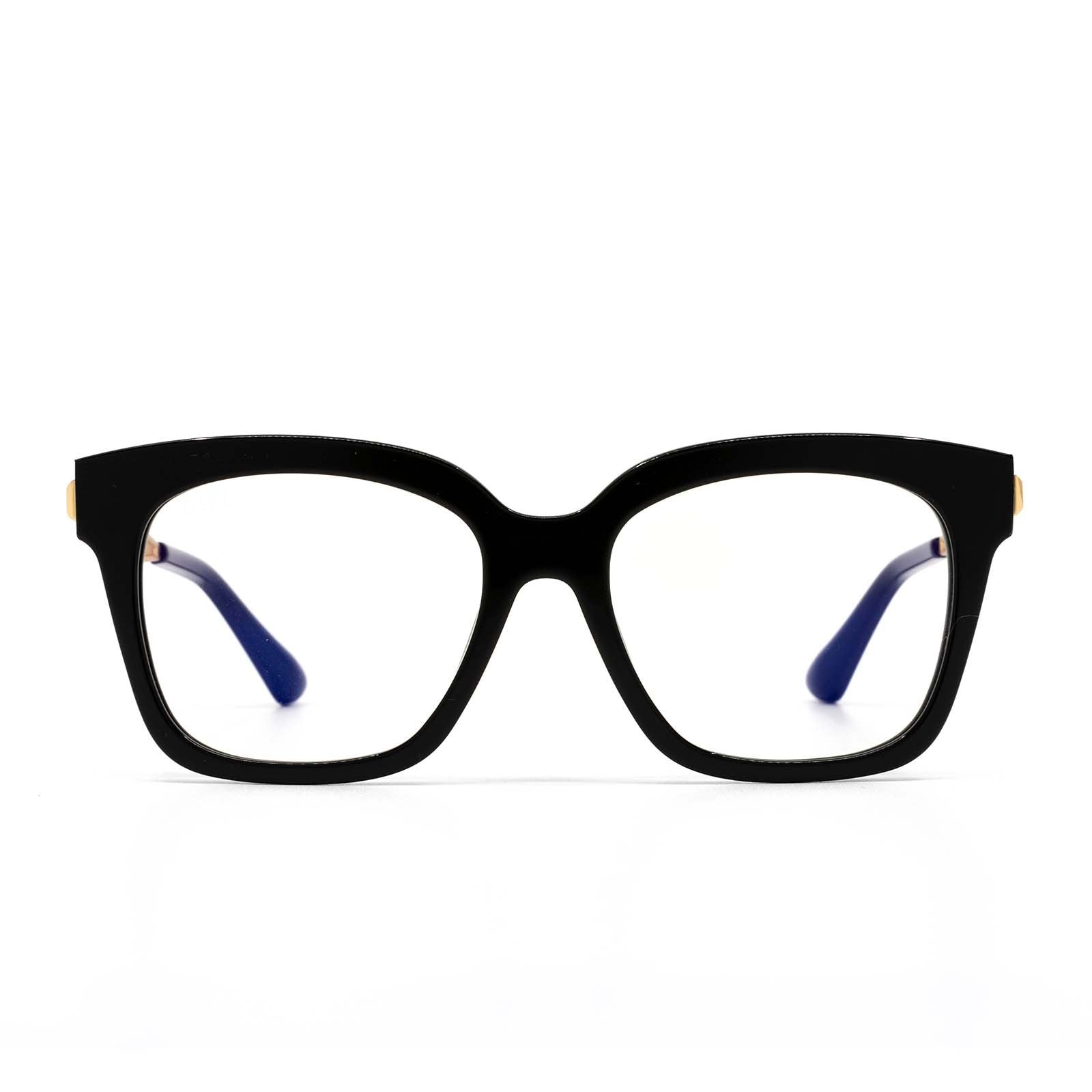 Bella xs black frame prescription lens front