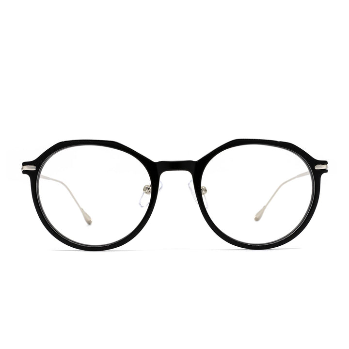 Bennett eye glasses with black frame and blue light technology- front view