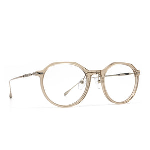 Bennett prescription eyeglasses with black frames front viewBennett prescription eyeglasses with vintage crystal frames angle view