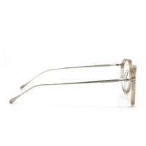Bennett prescription eyeglasses with vintage crystal frames side view
