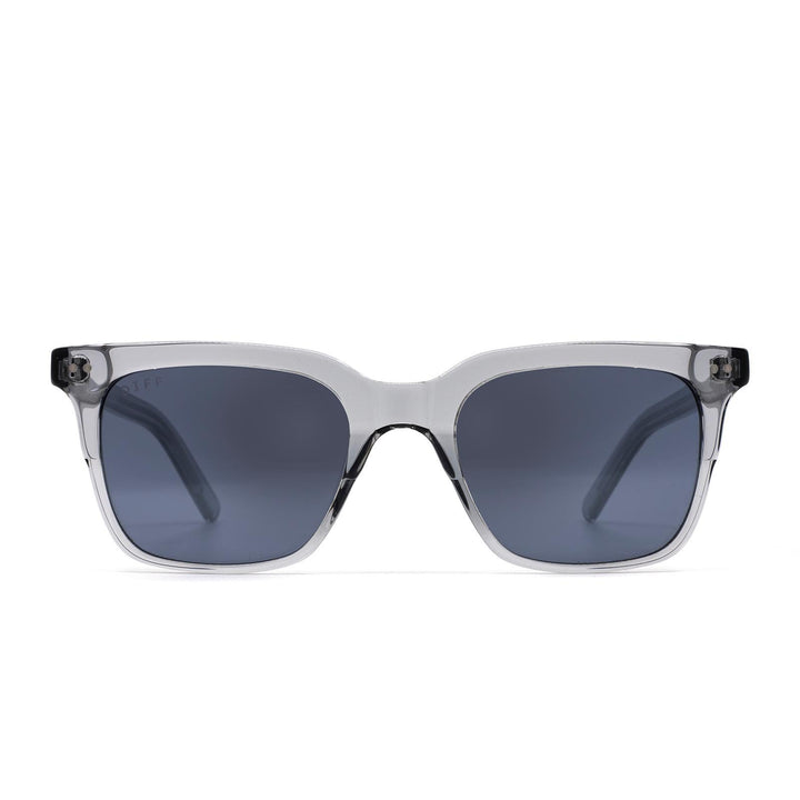 Billie sunglasses with smoke crystal frame and grey lens-front view