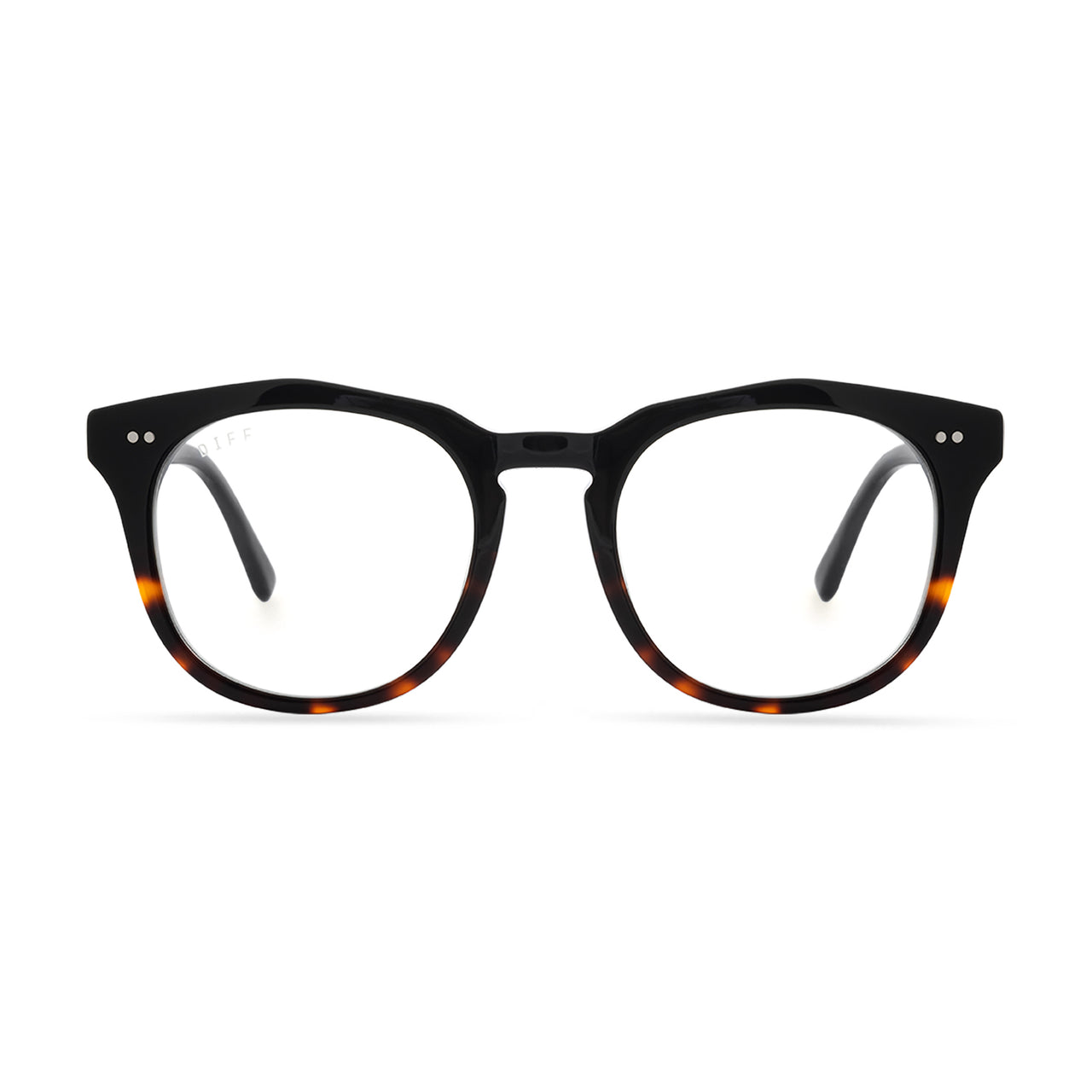 WESTON - BLACK + TORTOISE + CLEAR front