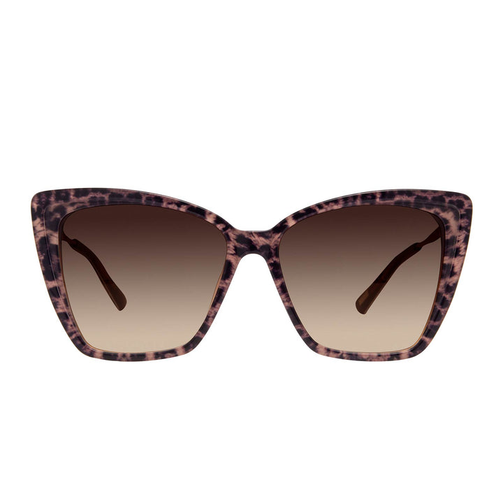 Becky ii Leopard Tortoise & Brown Gradient Oversized Cat Eye Sunglasses
