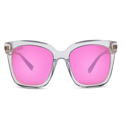BELLA - CLEAR + PINK MIRROR + POLARIZED