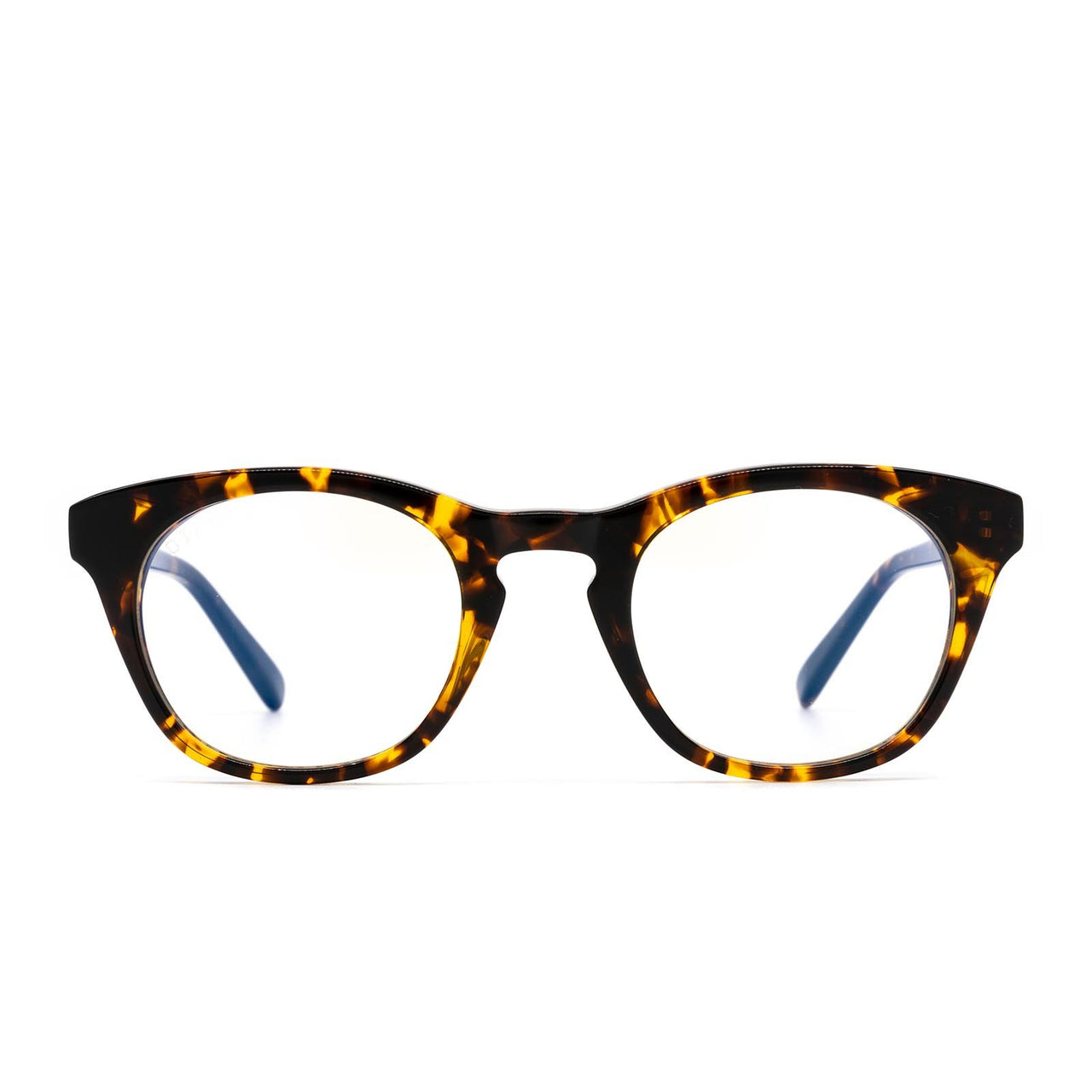 Callie prescription glasses with dark tortoise frames front view