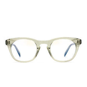 Callie prescription glasses with olive crystal frames front view