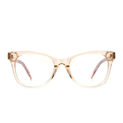 Carina prescription eyeglasses with blush crystal frames front view