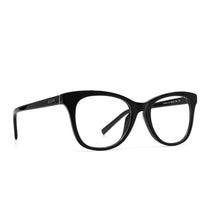 Carina prescription eyeglasses with black frames angle view