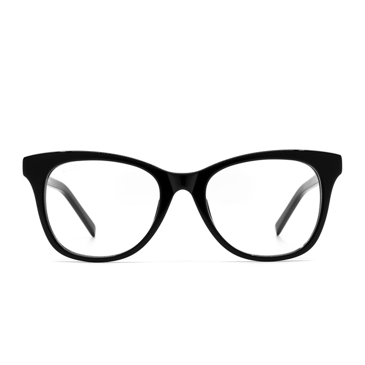 Carina eye glasses with black frames and blue light technology- front view