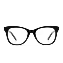 Carina prescription eyeglasses with black frames front view