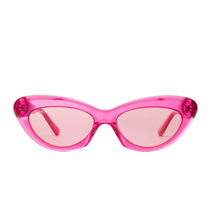 CLEO - PINK CRYSTAL + TRANSPARENT PINK
