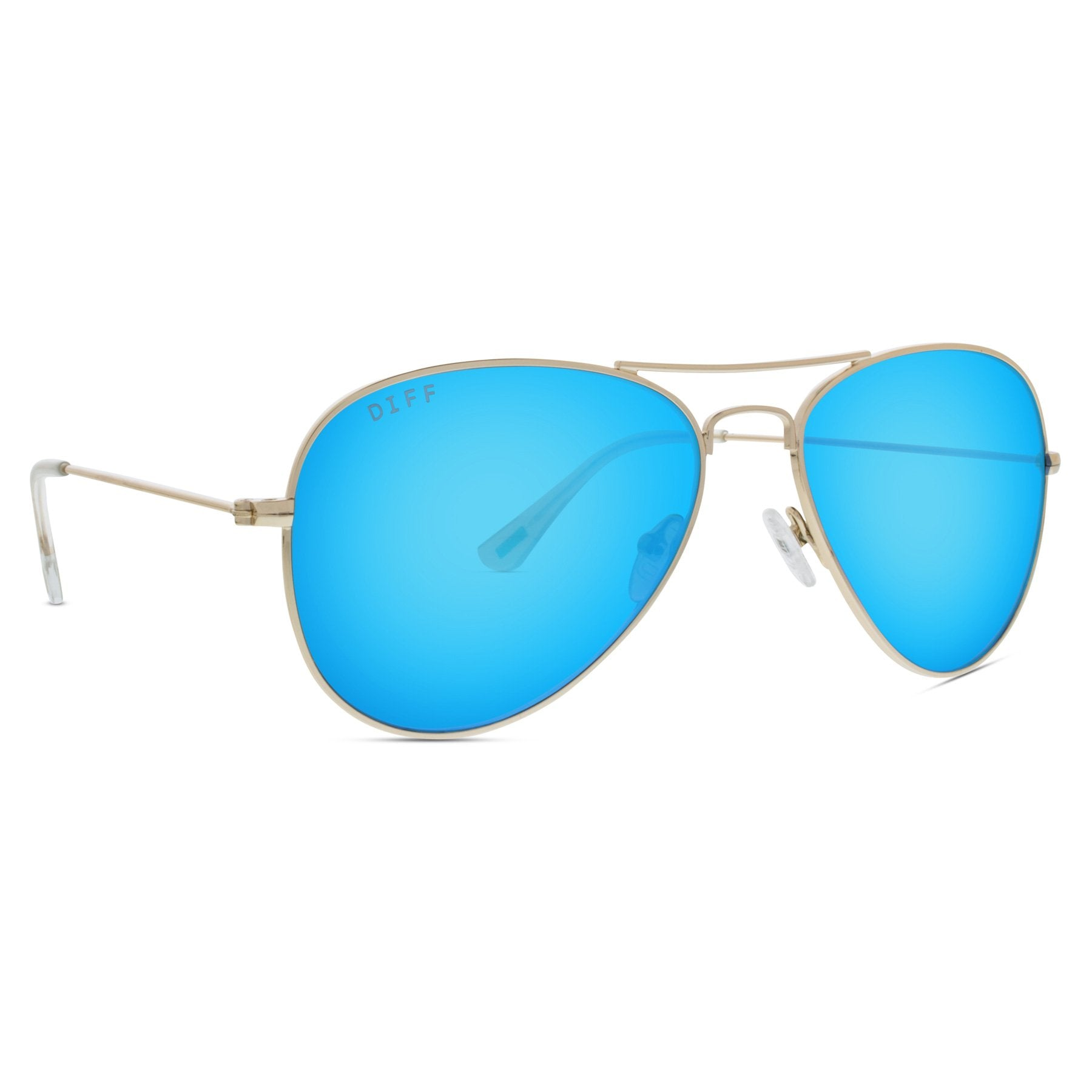 cruz gold blue mirror left angle