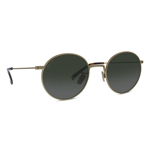 DAISY - ANTIQUE GOLD + GREEN + POLARIZED