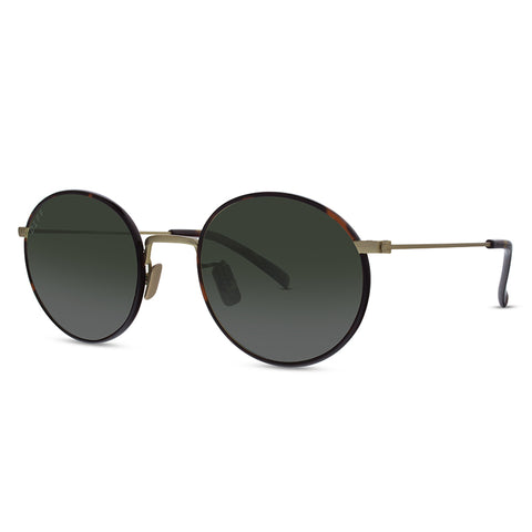 DAISY - ANTIQUE GOLD TORTOISE + GREEN + POLARIZED