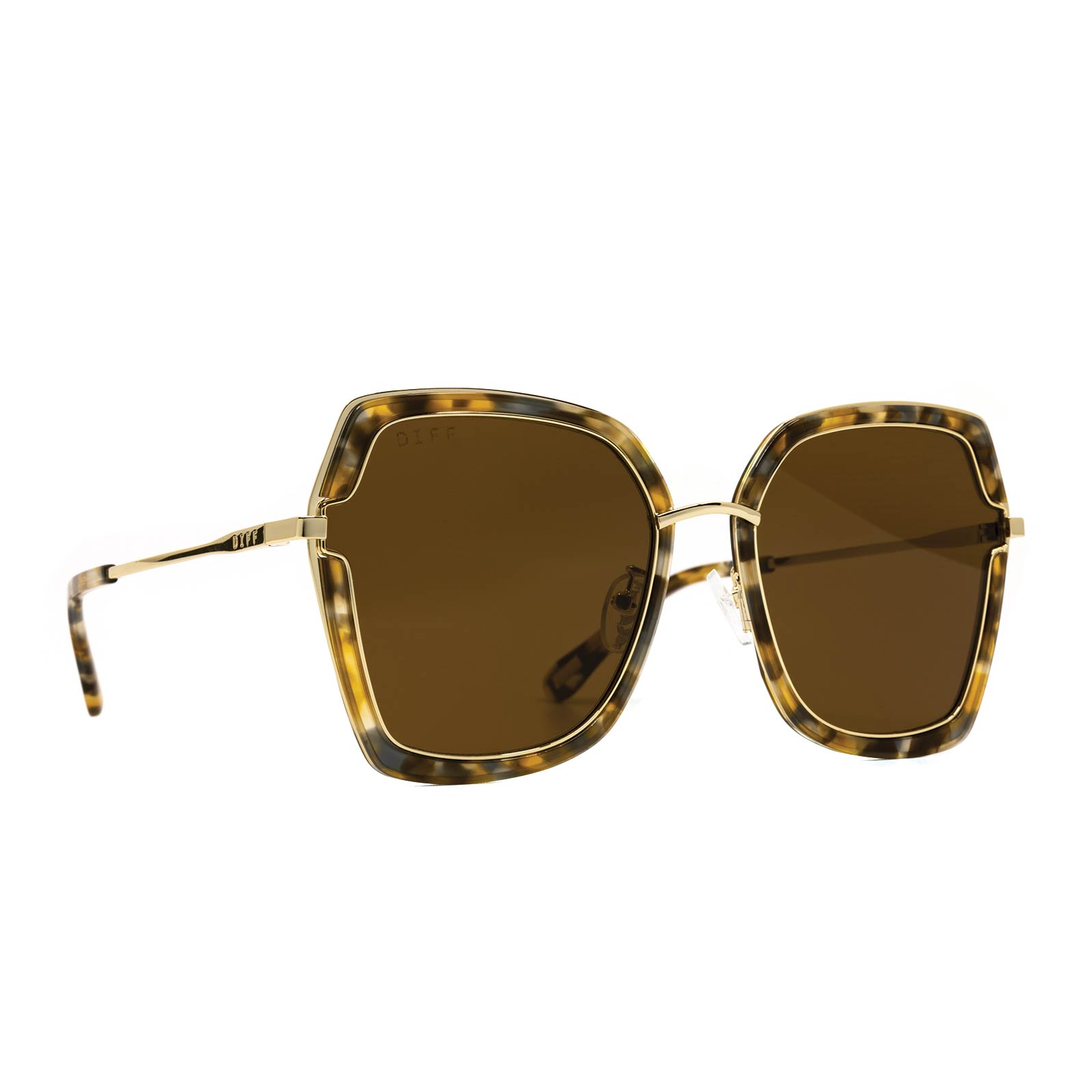 DAKOTA - GOLD WITH SEA TORTOISE + BROWN