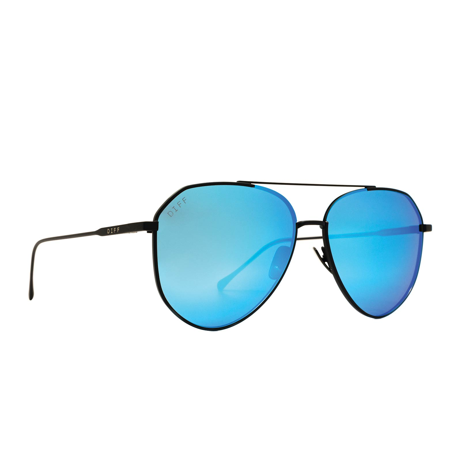 DASH - MATTE BLACK + BLUE MIRROR + POLARIZED