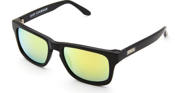 RILEY - BLACK FRAME - GOLD MIRROR LENS - DIFF Eyewear  - 3