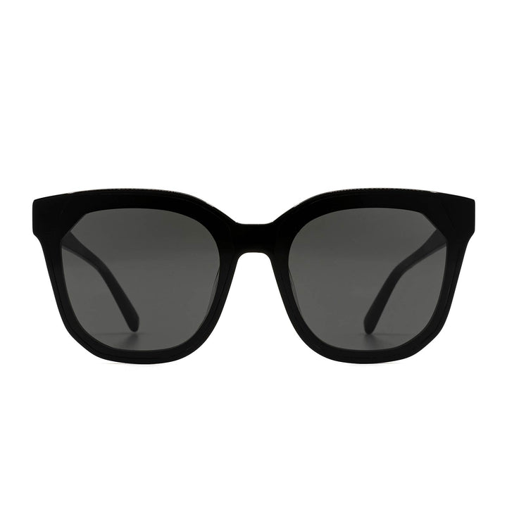 Gia Black and Grey Oversized Cat Eye Sunglasses