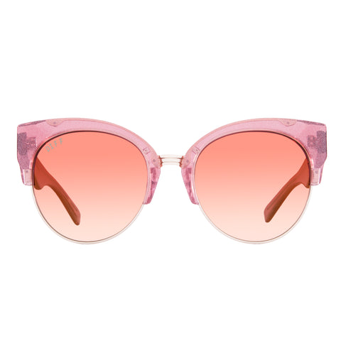 fcebfeaa02 Cat Eye Sunnies - Stella - Quartz Glitter Gold + Rose Gradient Gold Flash +  Polarized