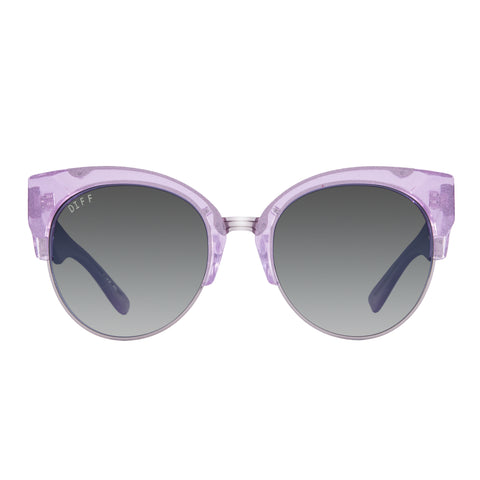STELLA - AMETHYST GLITTER + SMOKE GRADIENT SILVER FLASH + POLARIZED