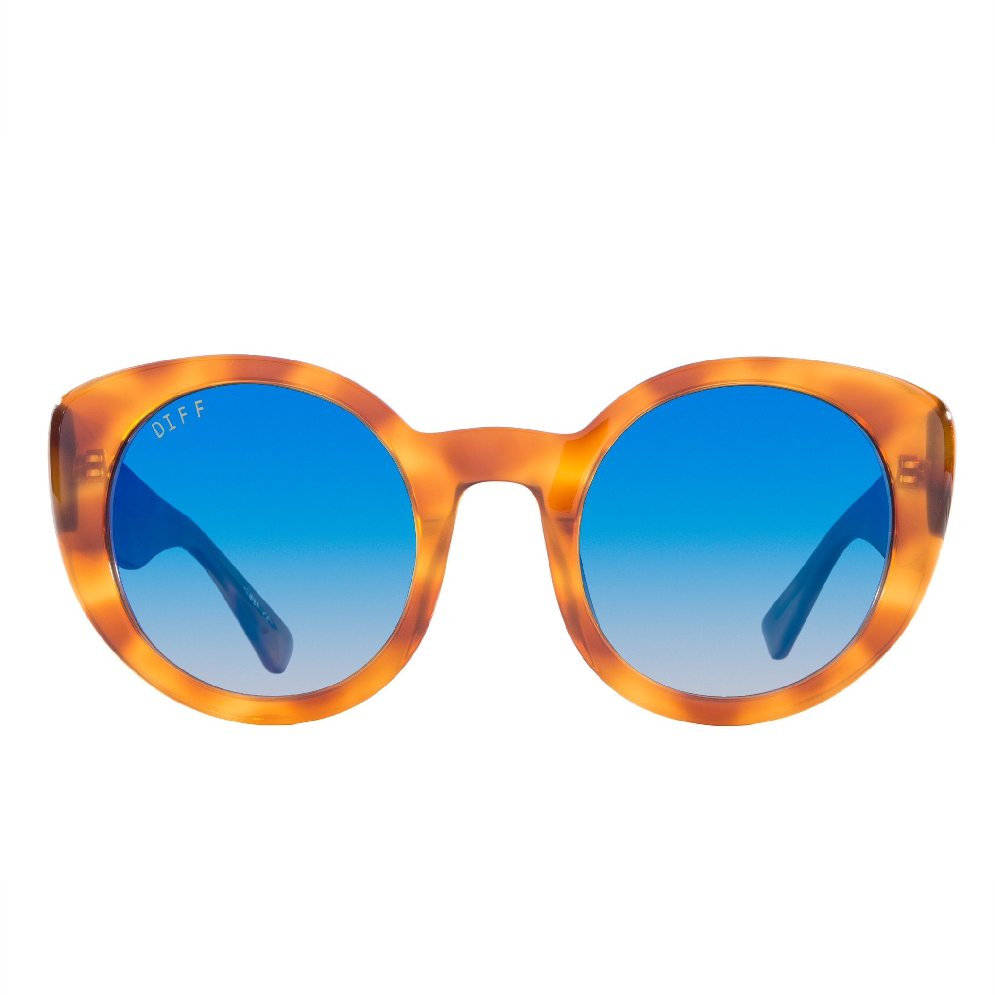 Women's Round Sunglasses - Luna Honey Tortoise Frame