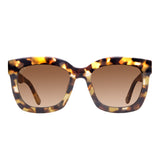 Square Sunglasses for Women - Carson Matte Moss Havana