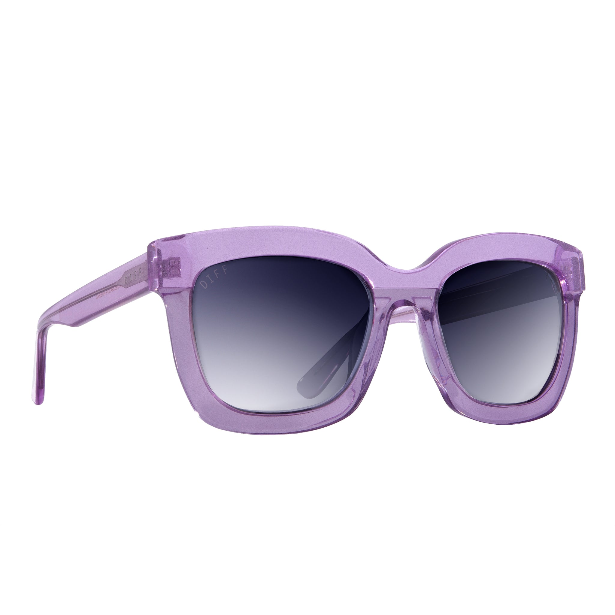 CARSON - AMETHYST GLITTER + SMOKE GRADIENT SILVER FLASH + POLARIZED