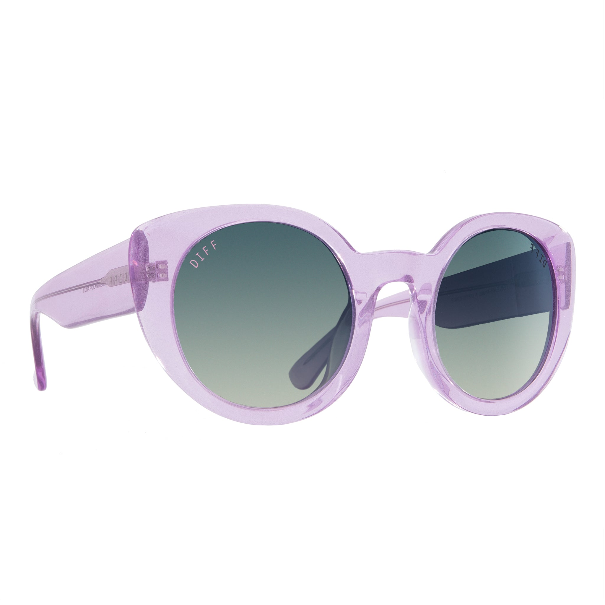 LUNA - AMETHYST GLITTER + SMOKE GRADIENT SILVER FLASH + POLARIZED