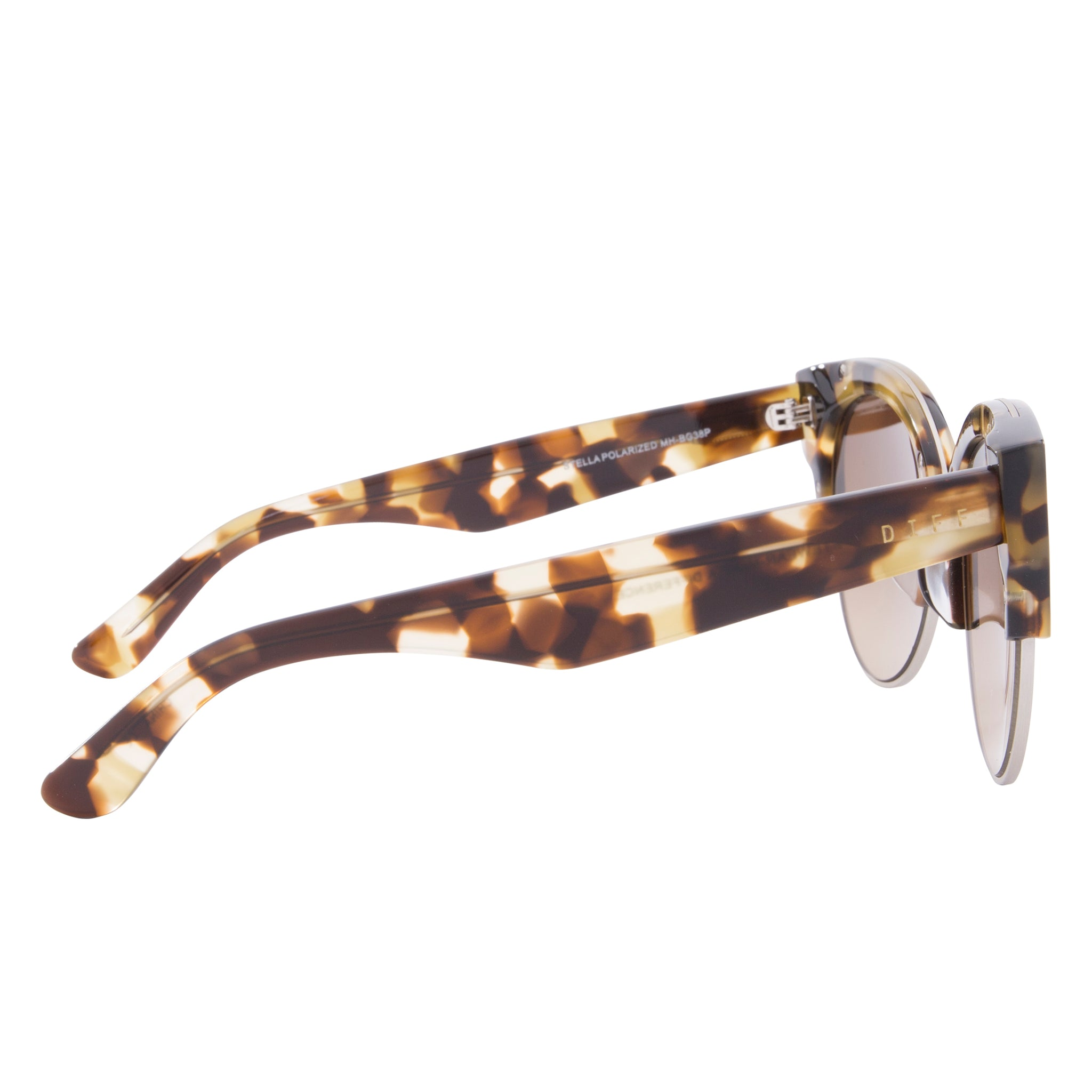 STELLA - MATTE MOSS HAVANA BRUSHED SILVER + BROWN GRADIENT + POLARIZED