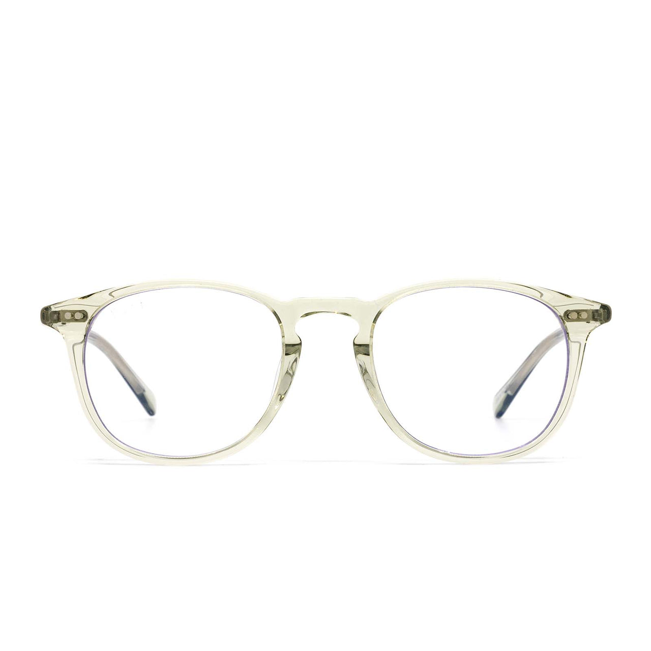 jaxson olive crystal and prescription lens front