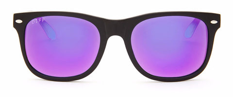 KOTA - BLACK FRAME - PURPLE MIRROR LENS