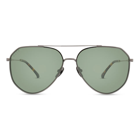 Women's Aviator Sunglasses - dash lightmetal green polarized lens