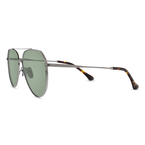 DASH - LIGHT GUNMETAL + GREEN + POLARIZED