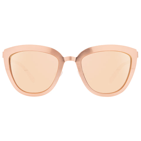 LILY - ROSE GOLD + TAUPE FLASH MIRROR POLARIZED