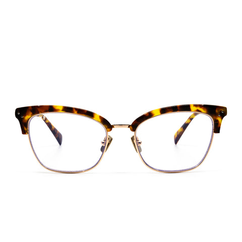 LUCY - GOLD AMBER TORTOISE + CLEAR