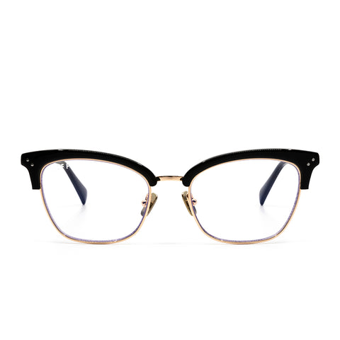 LUCY - GOLD BLACK ACETATE + CLEAR