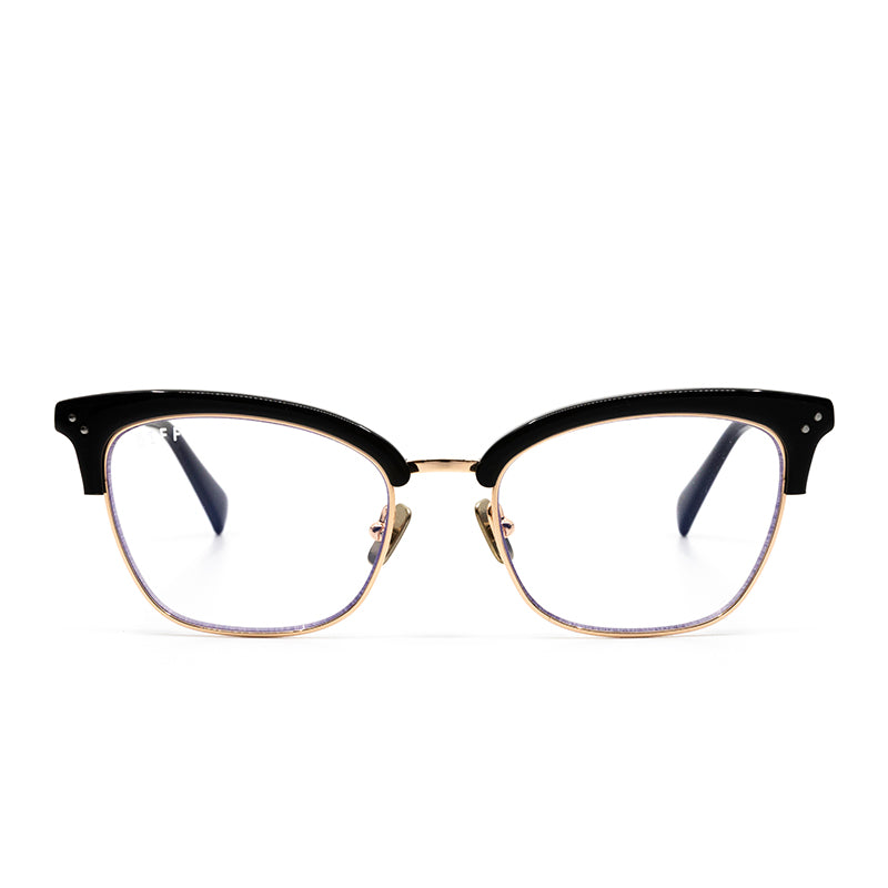 LUCY - GOLD BLACK ACETATE + BLUE LIGHT TECHNOLOGY CLEAR