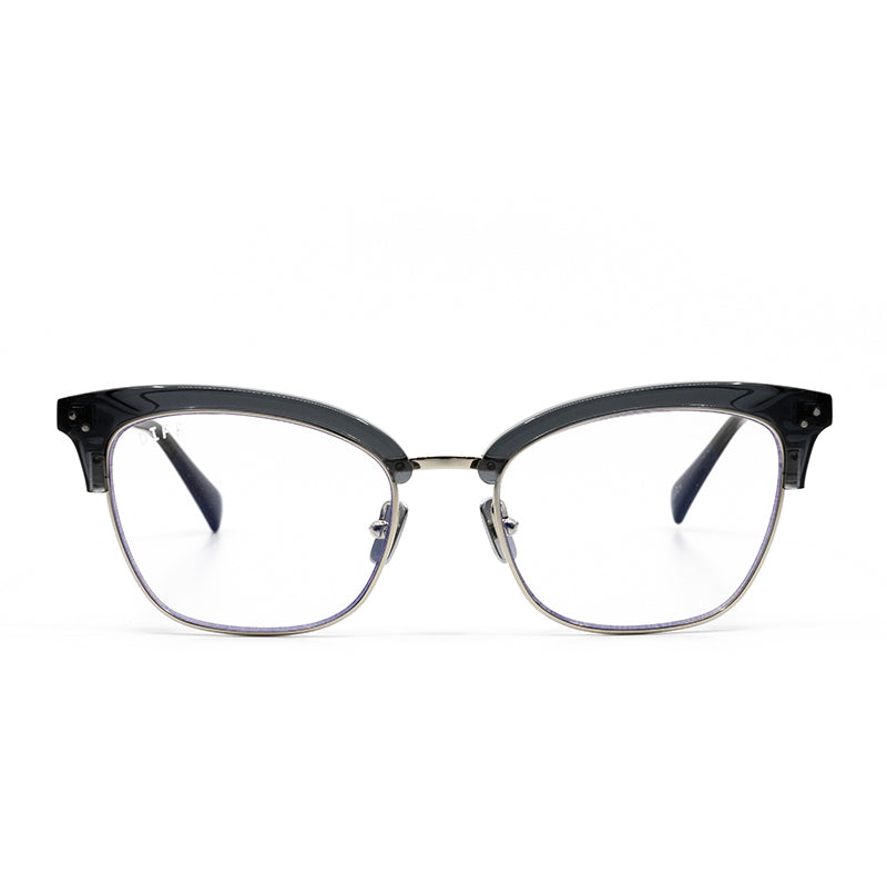 LUCY - SILVER SMOKE ACETATE + BLUE LIGHT TECHNOLOGY CLEAR