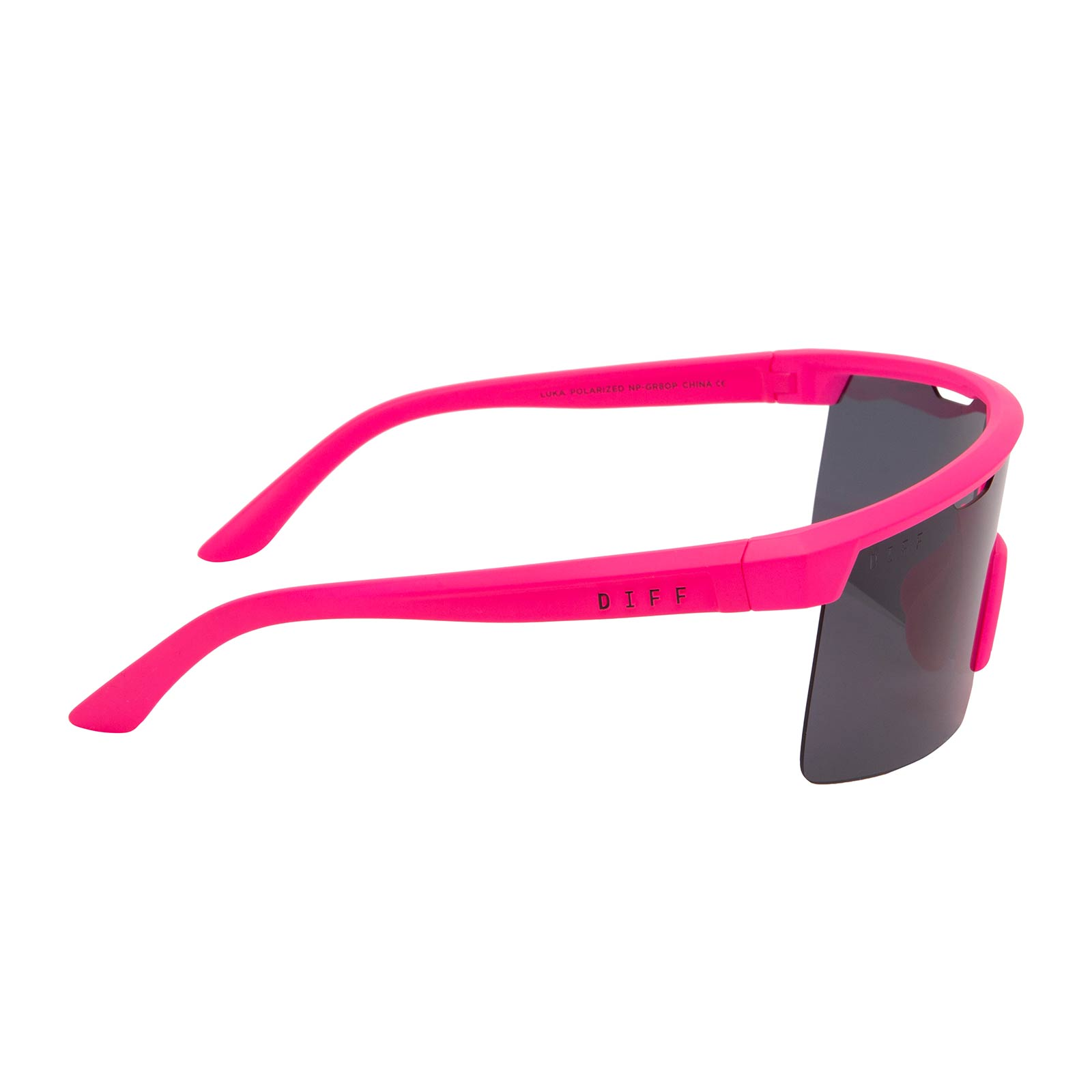 LUKA - NEON PINK + DARK SMOKE POLARIZED