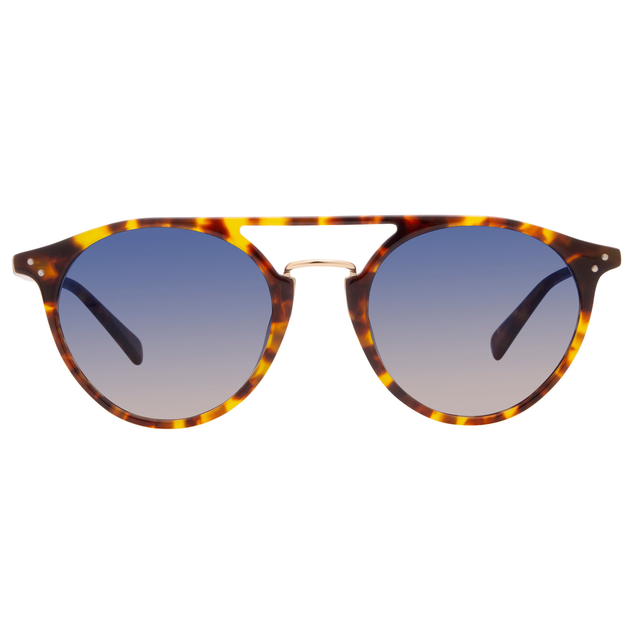 MASON - AMBER TORTOISE + BLUE STEEL GRADIENT + POLARIZED