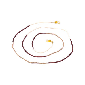 Tribe Alive Multi Beaded Chain - Gold / Cream / Berry