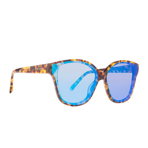 PIPER - AMBER TORTOISE + BLUE FLASH MIRROR POLARIZED