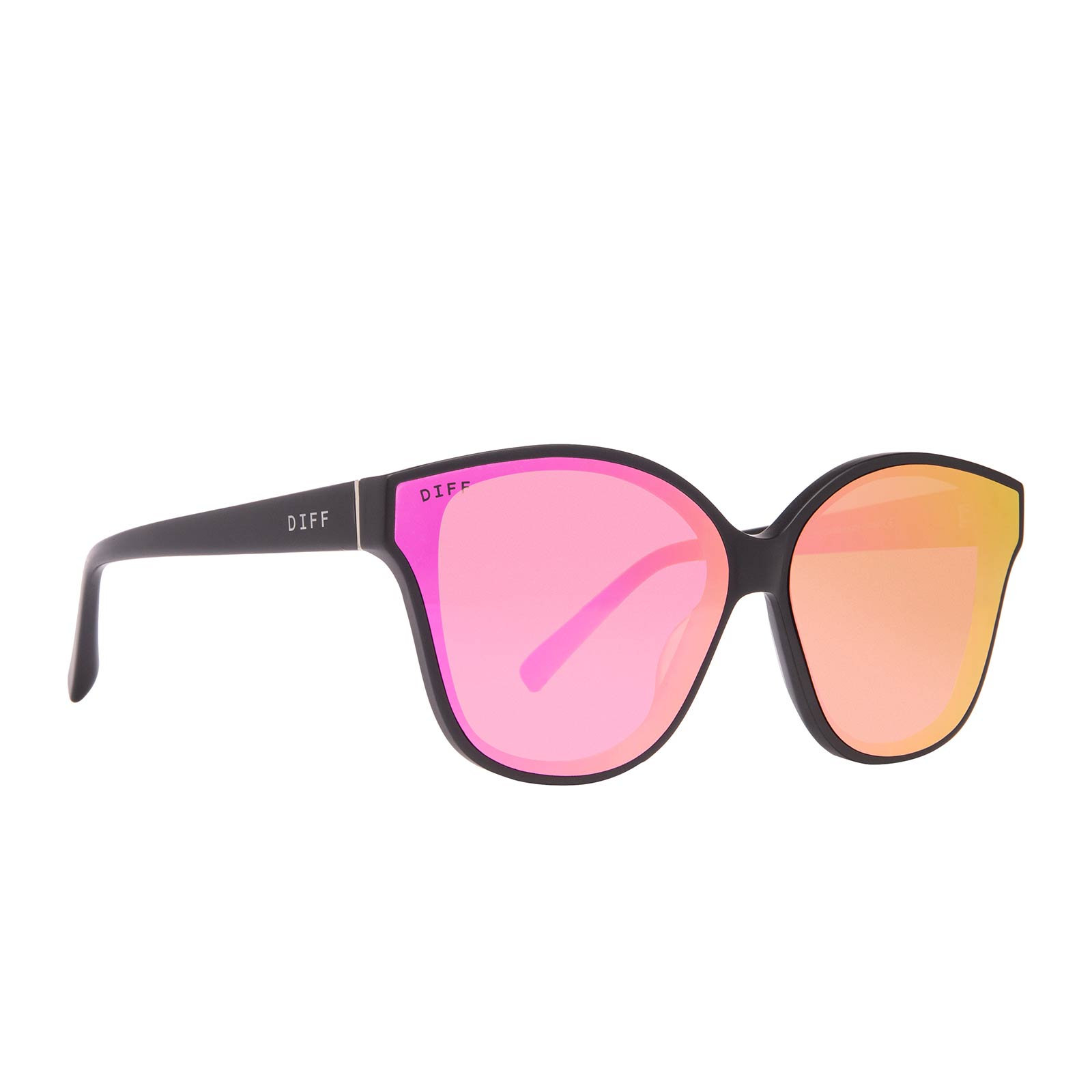 PIPER - MATTE BLACK + PINK MIRROR POLARIZED