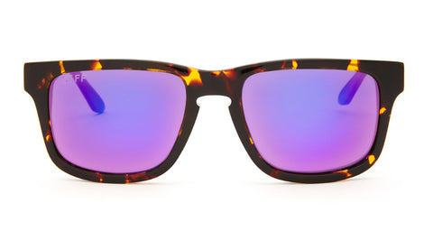 RILEY - TORTOISE FRAME - PURPLE MIRROR LENS - DIFF Eyewear