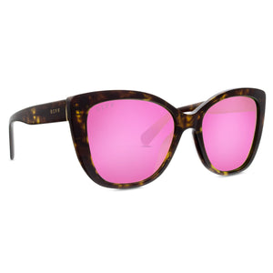 ruby gold tortoise pink mirror left angle