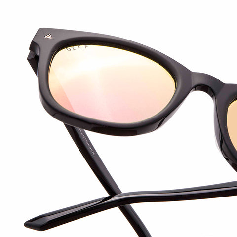 RYDER - MATTE BLACK + PINK MIRROR + POLARIZED