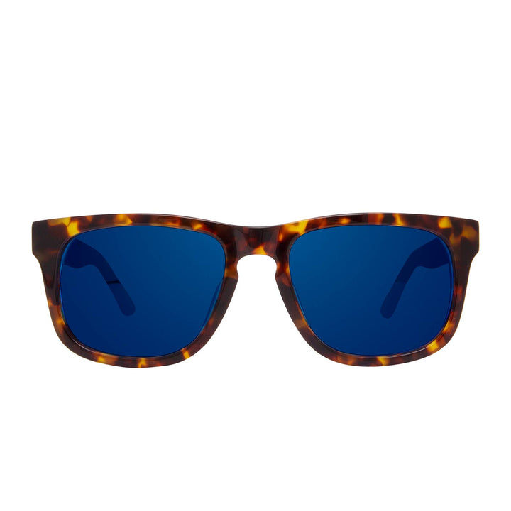 RILEY - AMBER TORTOISE +BLUE MIRROR