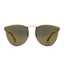 Sadie sunglasses with gold frame and gold lens- front view