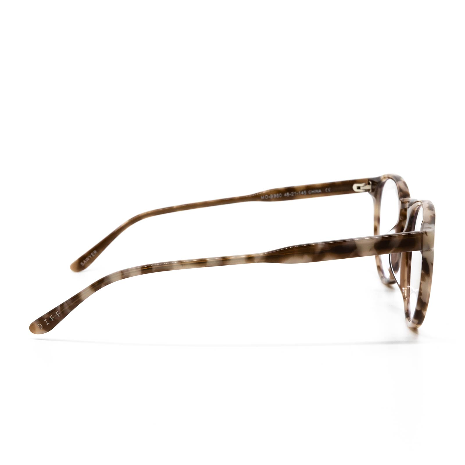 SAWYER - MOCHA TORTOISE + CLEAR