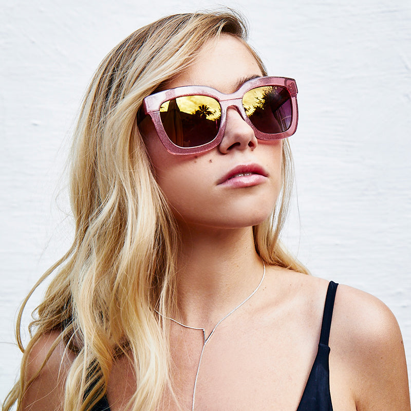 CARSON - QUARTZ GLITTER + ROSE GRADIENT GOLD FLASH + POLARIZED
